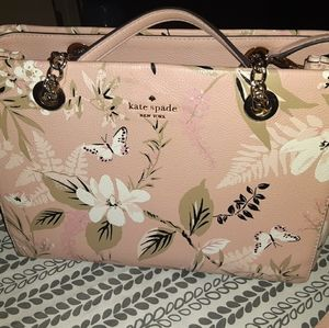 Kate Spade pink purse with floral prints